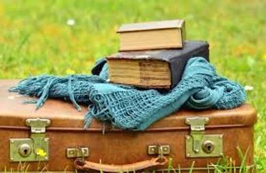 photo valise avec des livres