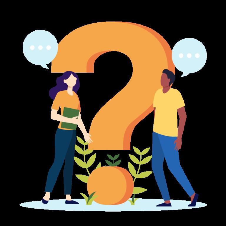 Illustration, 2 personnes se questionnent sur le zéro déchet